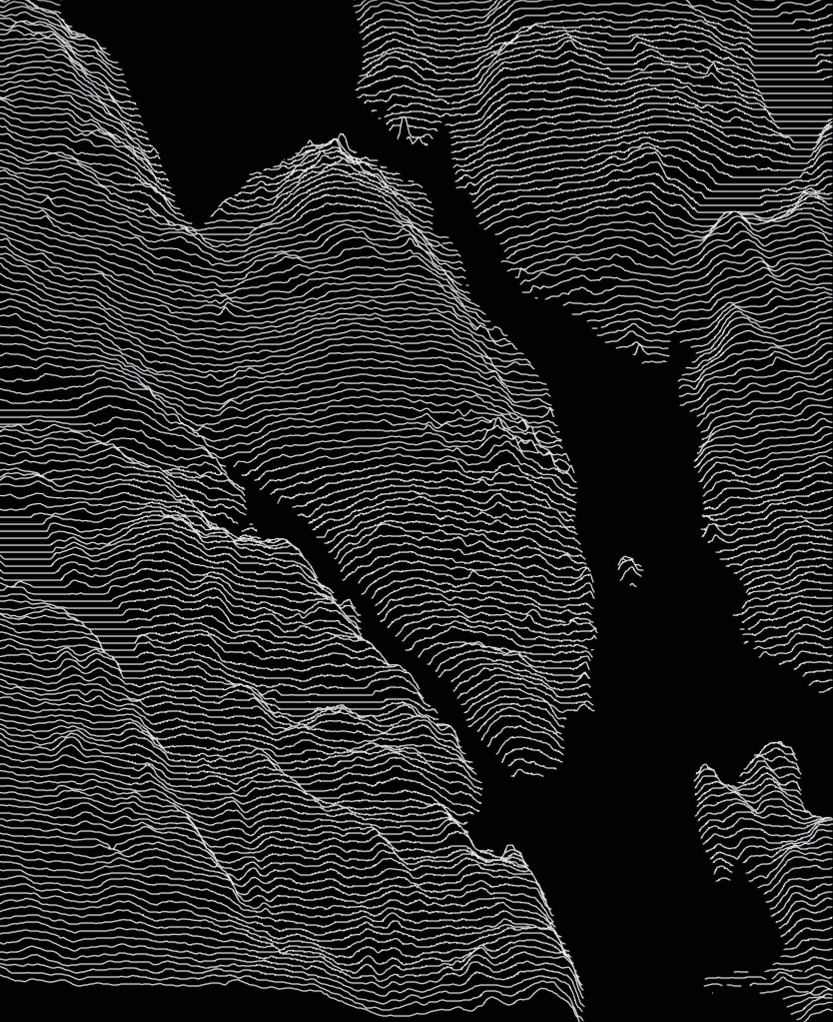 A ridgeline plot of the Halifax peninsula made using elevation plotting.